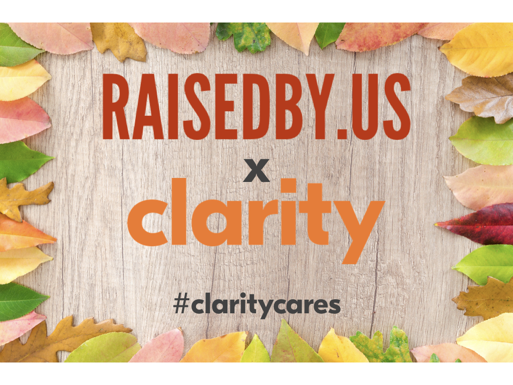 raised by us X clarity recruiting partnership logo