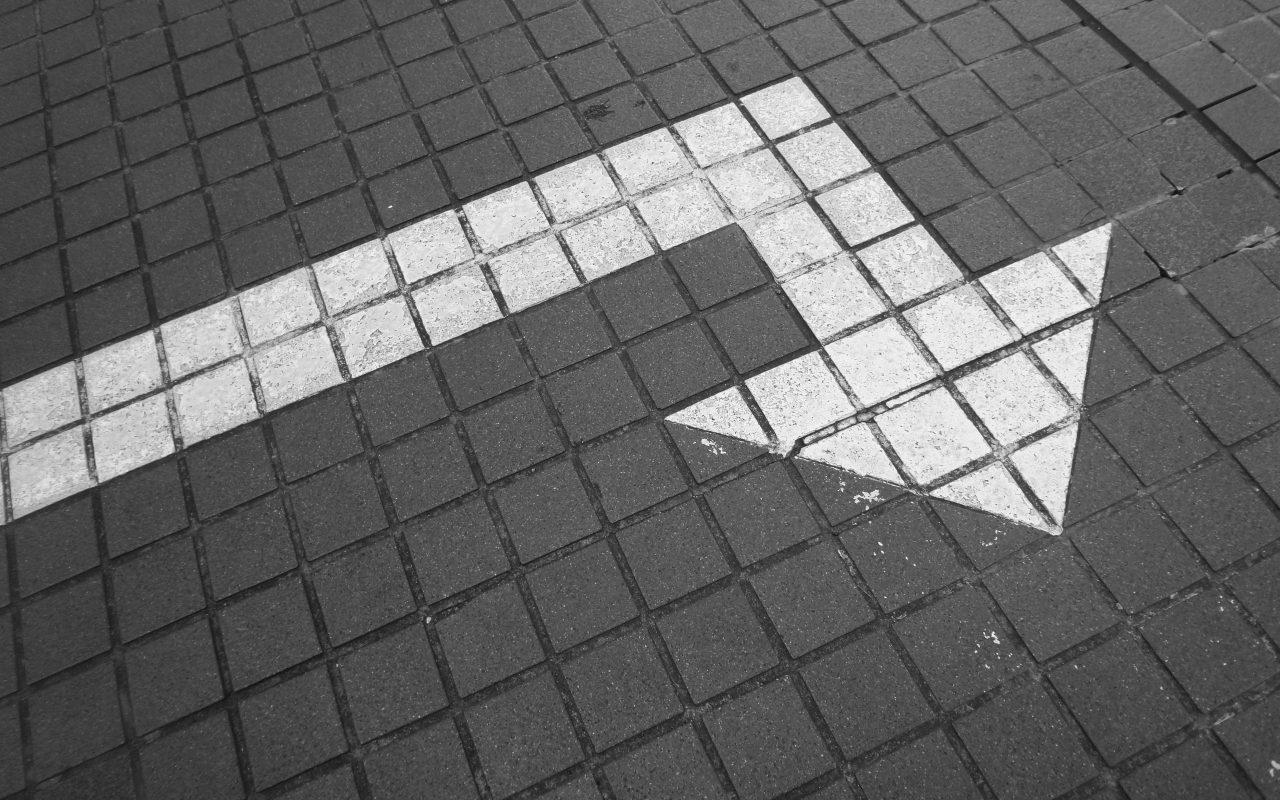 arrow signifying a pivot